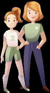Soccer team member and parent