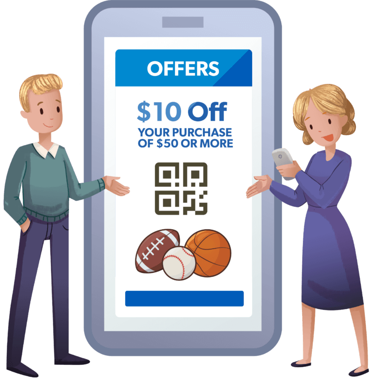 Discount offers in the Hometown Ticketing Fan app