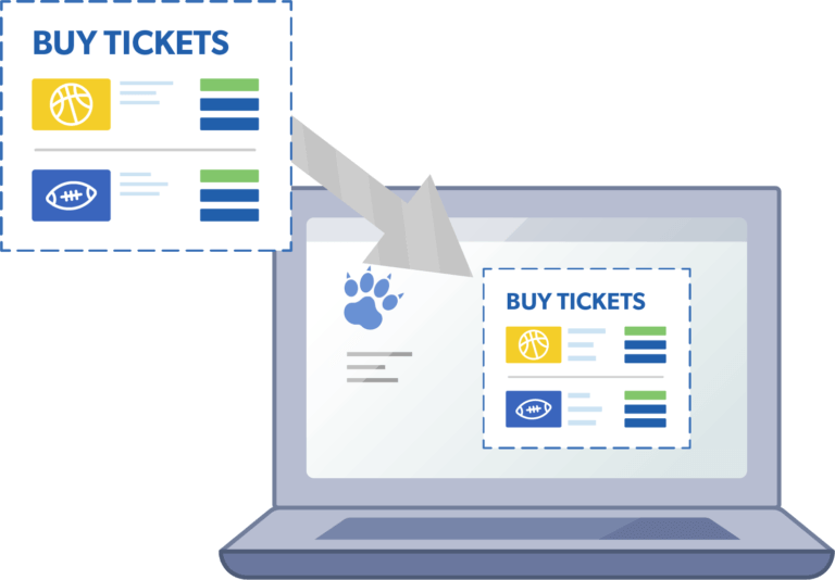 Place the online box office on your schools website